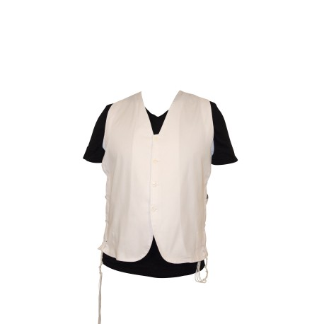 4 Fringes Vest White