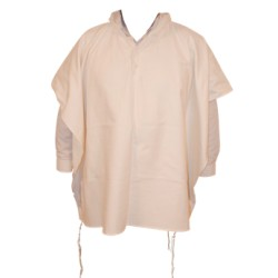 4 Fringes Poncho Off White