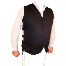4 Fringes Vest Black